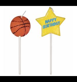 "Basketball Birthday Pick 3"" Candles"
