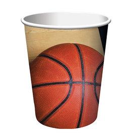 Creative Converting Sports Fanatic - Basketball Cups, 9oz