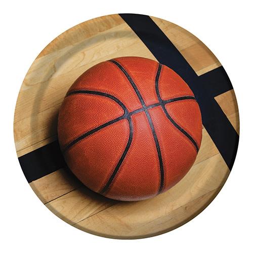 "Creative Converting Sports Fanatic - Basketball Plates, 9"" Dinner"