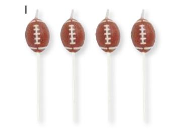 Creative Converting Football - Candle Picks