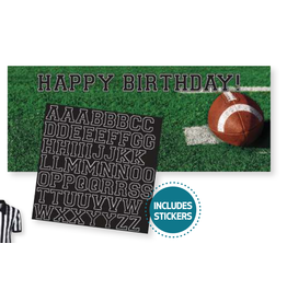 Creative Converting Football - Tailgate Party Banner with Stickers