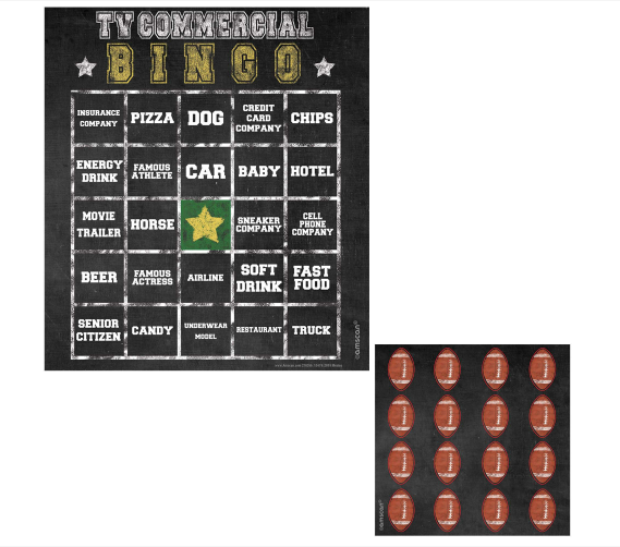 Football Commercial Bingo
