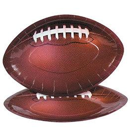 FUN EXPRESS Football Shaped Dinner Plates