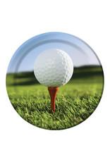 "Creative Converting Sports Fanatic - Golf Plates, 9"" Dinner"