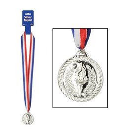 Beistle Medal with Ribbon - Silver