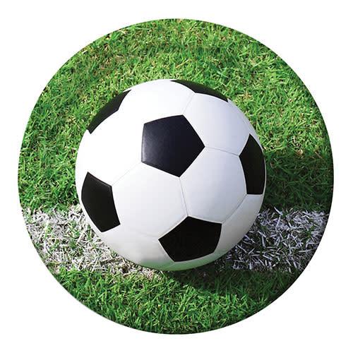 "Creative Converting Sports Fanatic - Soccer Plates, 9"" Dinner"