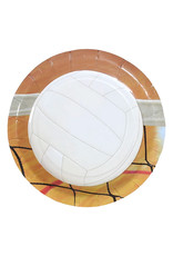 "Volleyball - 7"" Round Plates"