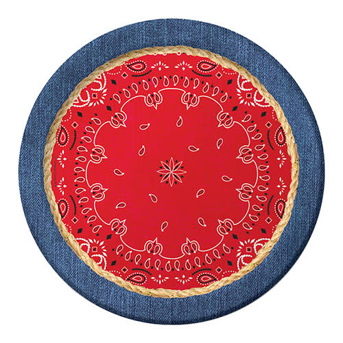 "Creative Converting Bandanarama - Plates, 9"" Dinner"