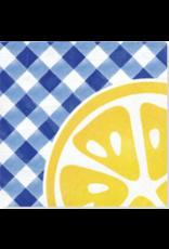 Creative Converting Gingham Lemonade - Beverage Napkin