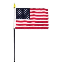 "Online Stores Stick Flag 4""x6"" - United States (USA)"