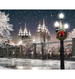 Popcorn Tree Metal Print - Salt Lake Temple, Winter 10x8