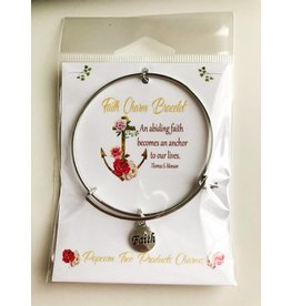 Popcorn Tree Charm Bracelet - Faith