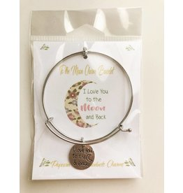 Popcorn Tree Charm Bracelet - I Love You to the Moon and Back