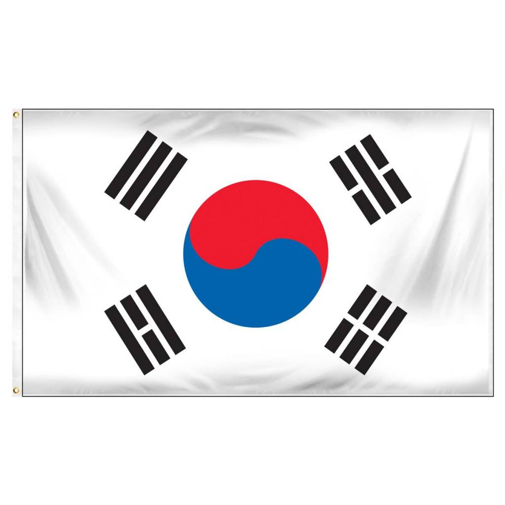 Popcorn Tree Flag - So Korea 3'x5'