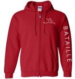 #100 Full Zip Hooded Sweatshirt - Bataille