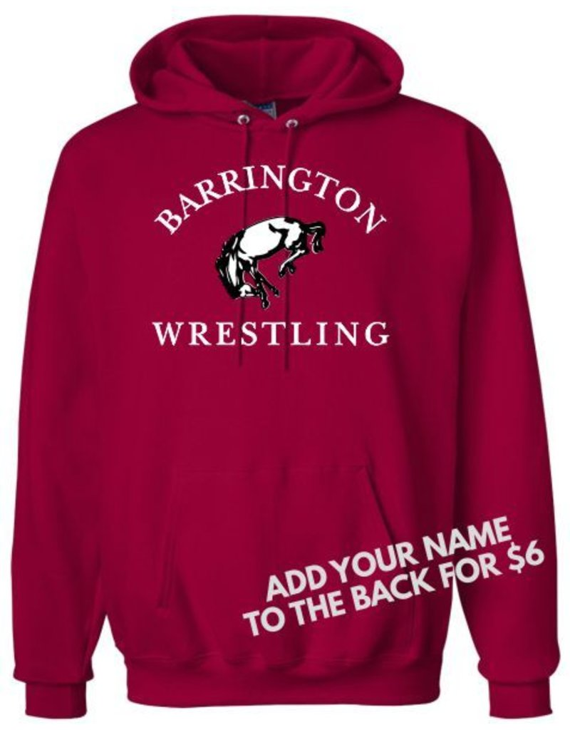 #103 Heavyweight Cotton Hooded Sweatshirt - BHS Wrestling