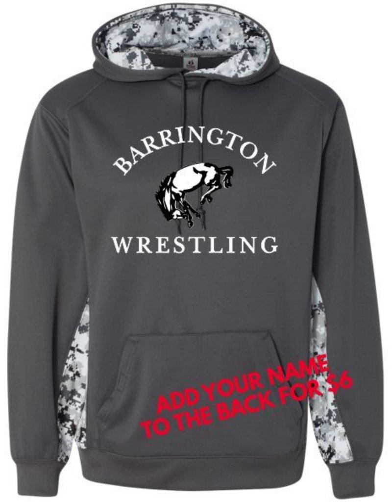 Badger #117 Digi Camo Colorblock Performance Sweatshirt - BHS Wrestling