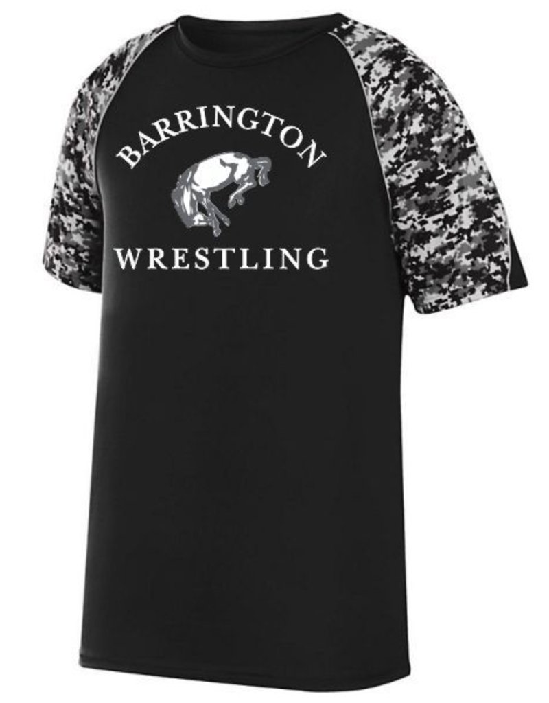#65 Digi Camo Colorblock Performance Shirt- BHS Wrestling