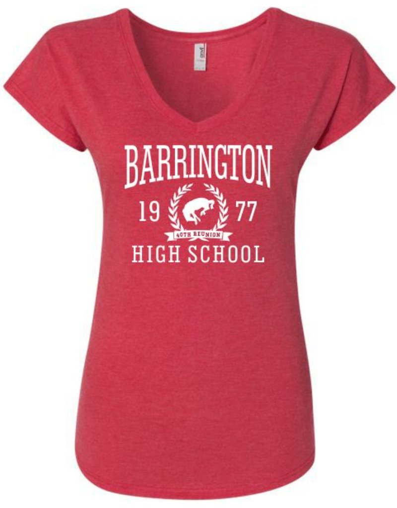 #328B Ladies Triblend V-Neck Tee - BHS Reunions