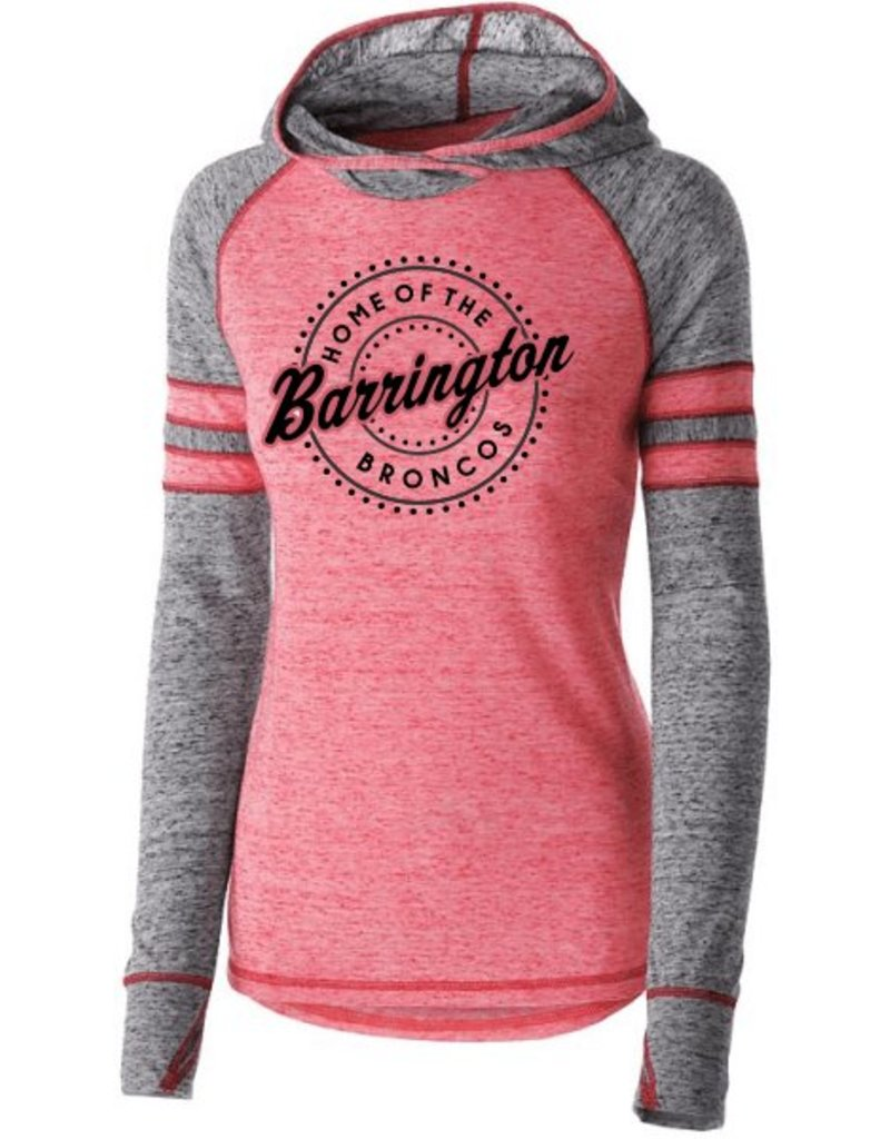 #354 Ladies Advocate Vintage Hoodie - Barrington Broncos