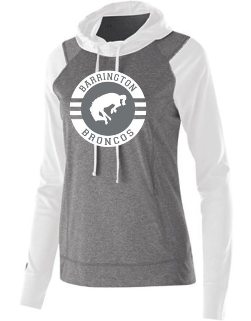 #371 Ladies Echo Performance Hoodie - Barrington Broncos