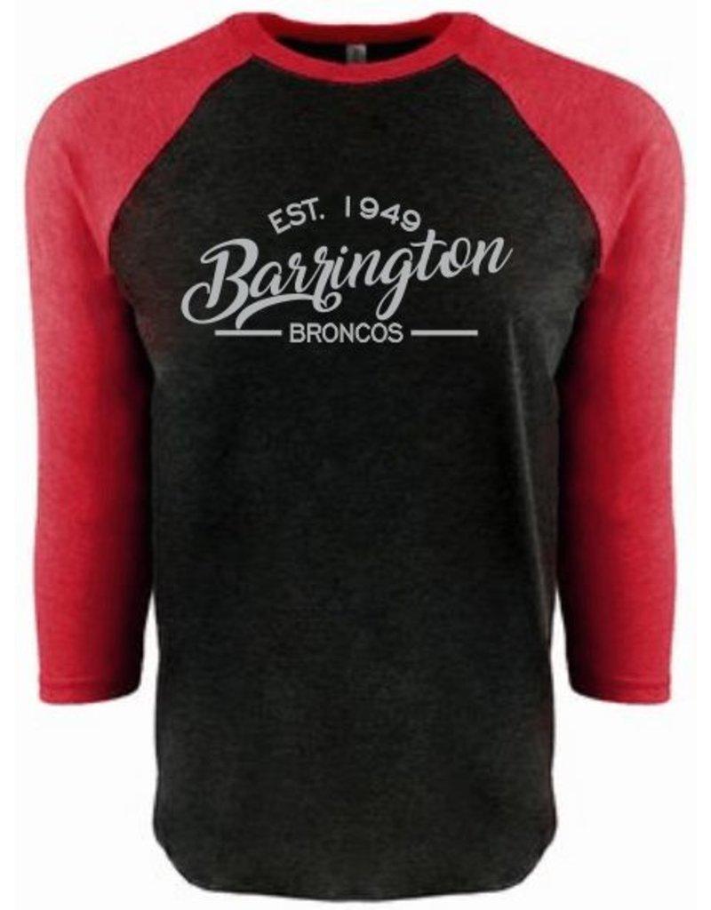 #12 Raglan Triblend T-Shirt with 3/4 Sleeve - Barrington Broncos