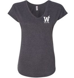 #328 Ladies Triblend V-Neck Tee - OLPH Alumni