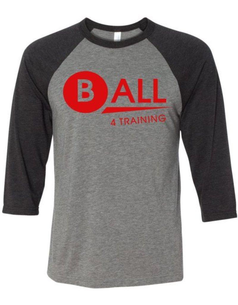 Bella + Canvas #27 Three-Quarter Sleeve Baseball T-Shirt - BALL4Training