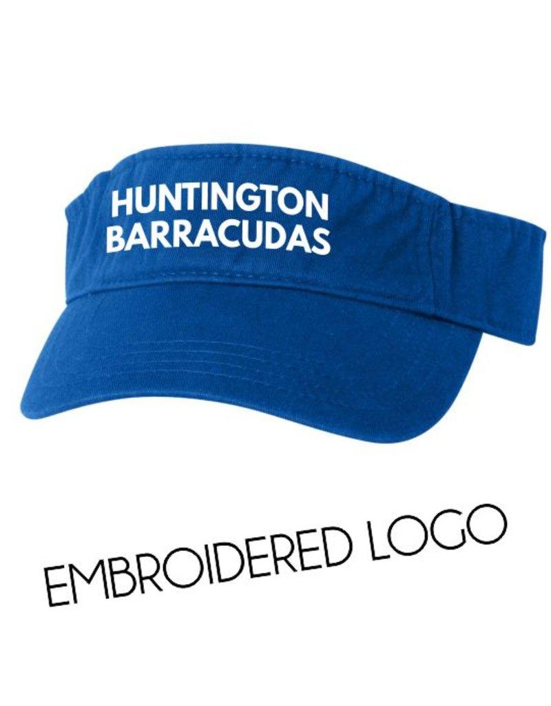 #482 Cotton Visor - Huntington Swim Team