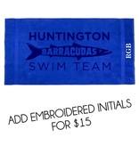Terry Town #405 King Sized Beach Towel - Huntington Swim Team