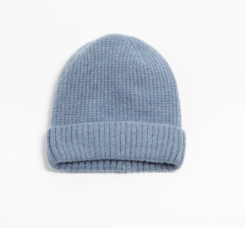 Look by M Cashmere Blended Waffle Knit Beanie