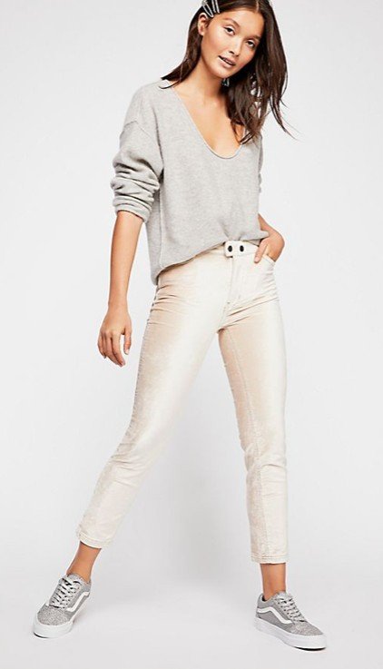 Free People Sweet Jane Velvet Skinny