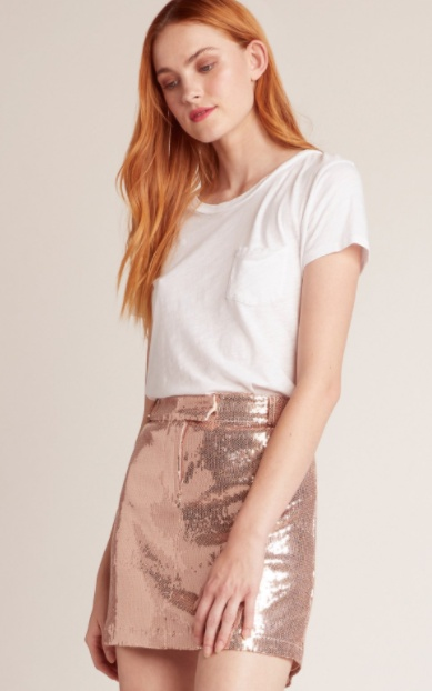 BB Dakota Modern Love Sequin Skirt