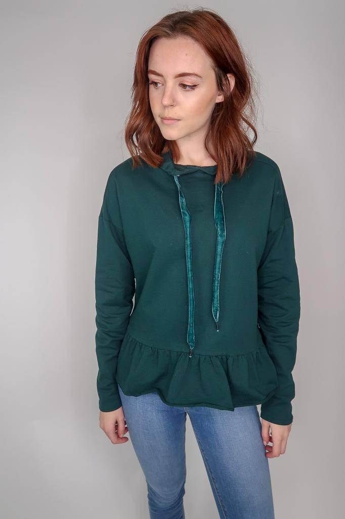 Others Follow Pickford Peplum Hooded Top Sweatshirt