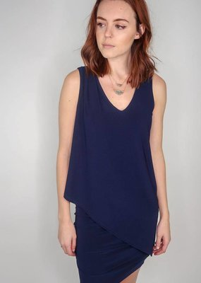 Last Tango Sleeveless 2 Layer Tunic W/ Bottom Rouching
