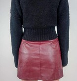 She + Sky Faux Leather Mini Skirt w/zipper