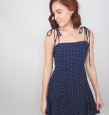 Cozy Casual Polka Dot Skater Dress