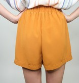 Cozy Casual Woven Tie Front Shorts