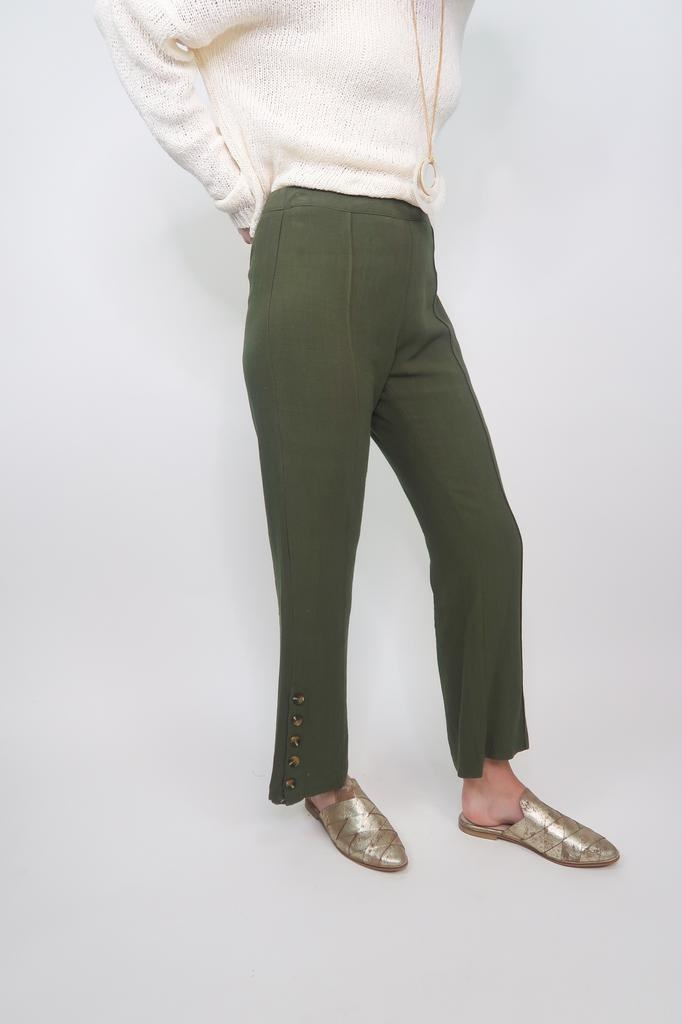 HYFVE Bottom Detail Linen Pants