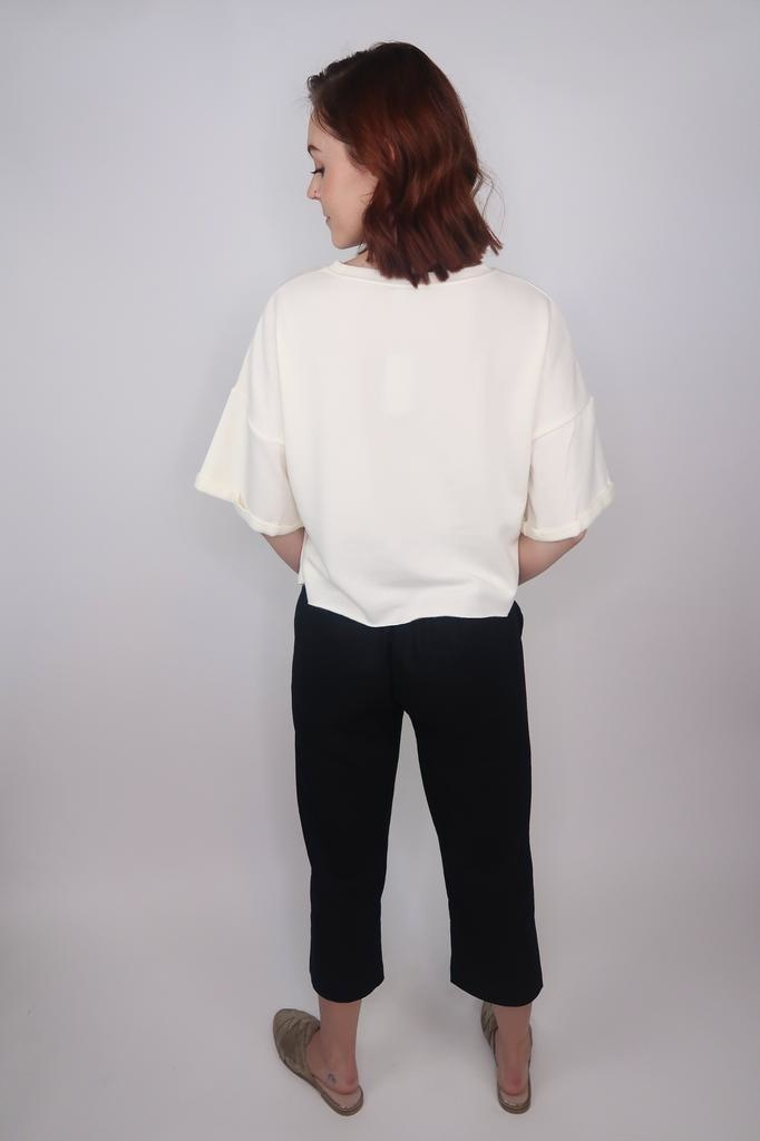 Others Follow Riza Cropped Fleece Lined Top
