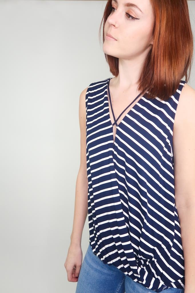 She + Sky Away From Here Strap Detail Top