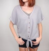 She + Sky Love Me In Pieces Dolman Top
