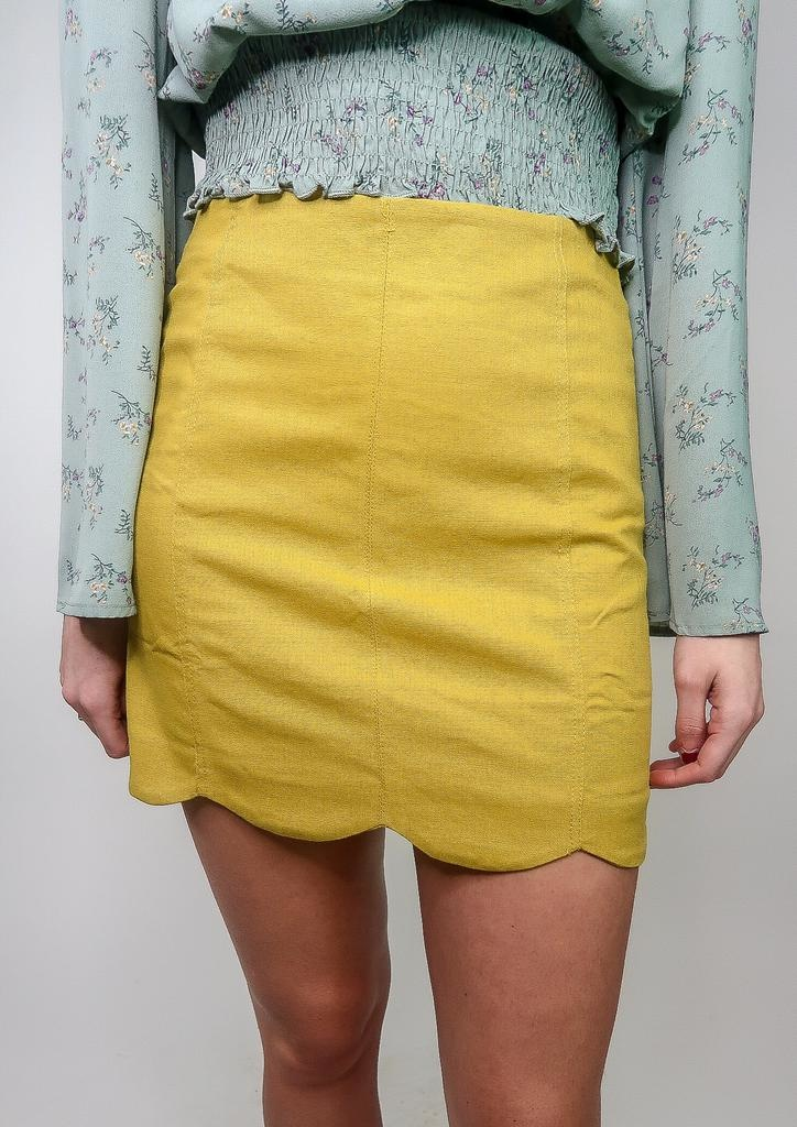 She + Sky LA Nights Scalloped Skirt