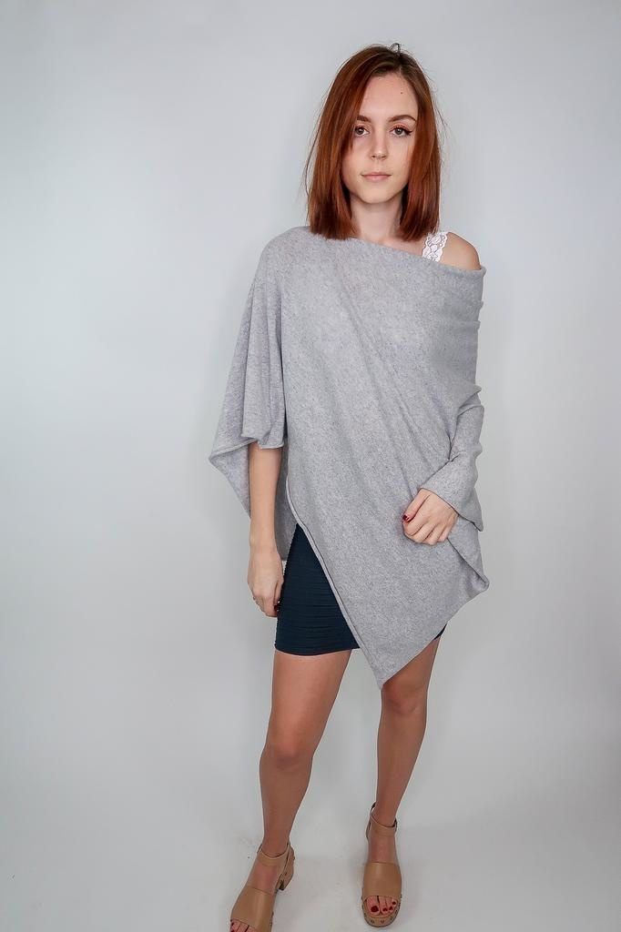 Look by M Premium Cashmere Poncho