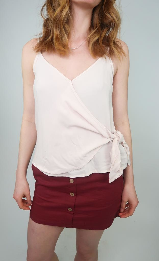 Grade & Gather Side Tie Tank Top