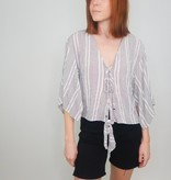 Angie Near or Far Tie Front Top