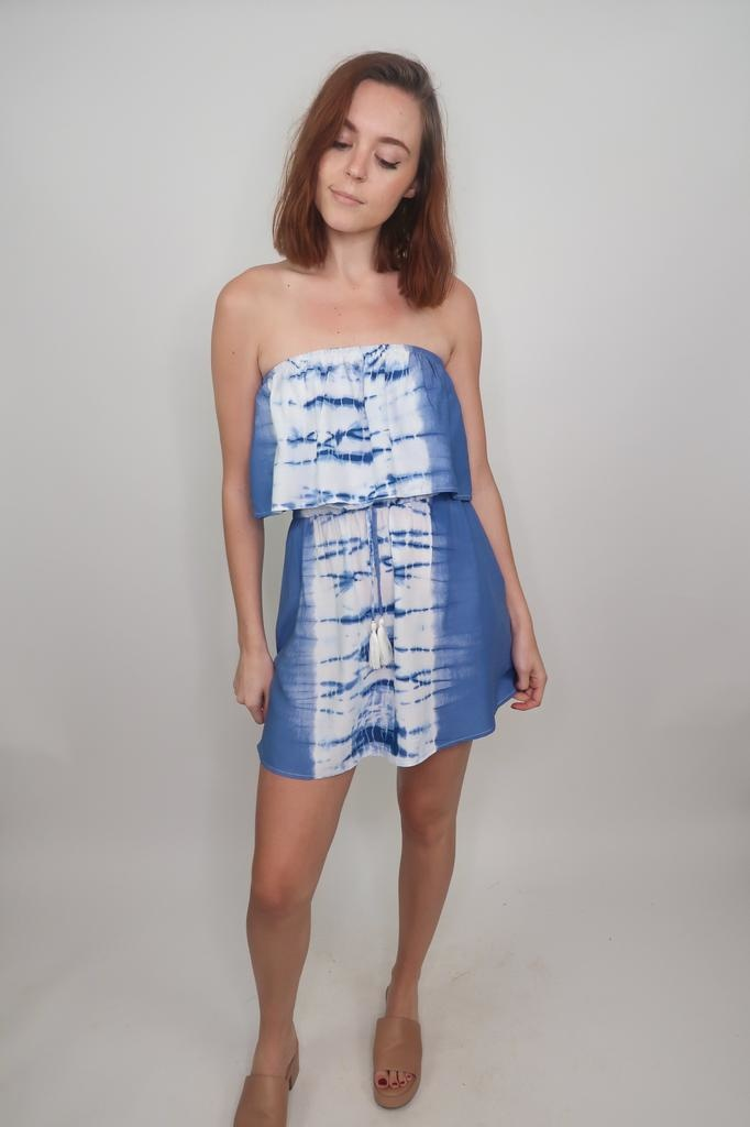 Vintage Havanna Dive off the Deep End Tie Dye Dress