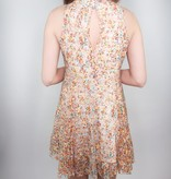 Angie Sippin' Bubbles Print Lace Dress