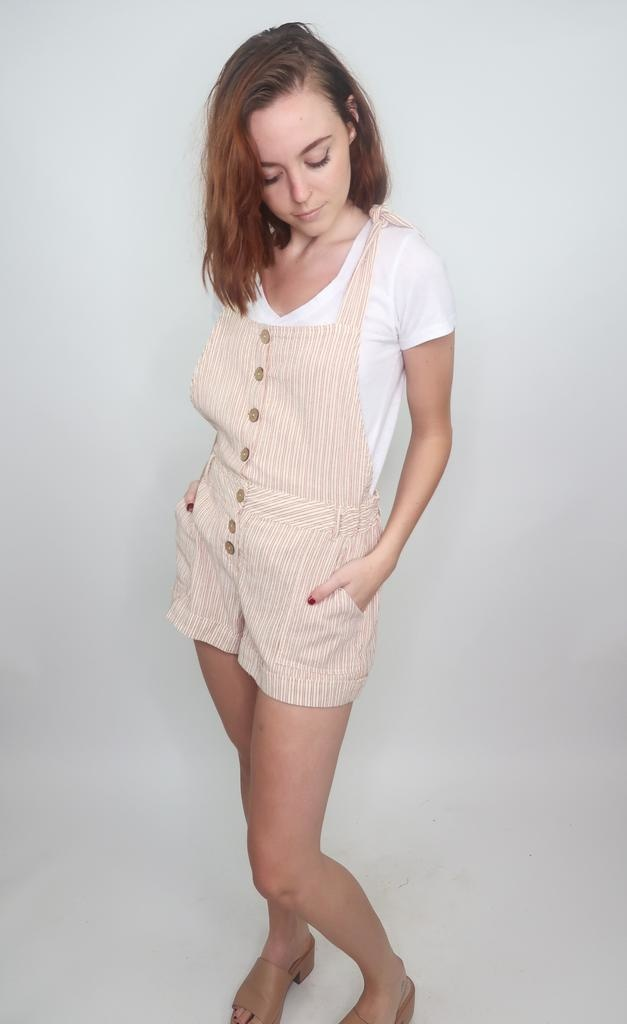 Vintage Havanna Woven Through Striped Overall
