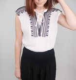 Sweet Rain Cherish This Embroidered Lace Up Top